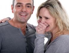 Symptoms of genital prolapse may include trouble controlling urination when coughing and laughing.