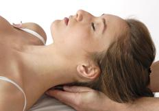 Neck pain may be relieved by a massage.