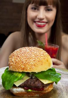Chicken burgers contain less saturated fat than beef.