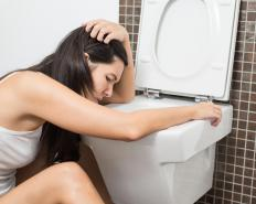 People who have the stomach flu often suffer from vomiting and diarrhea.