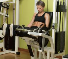 Leg extension machines allow users to exercise the muscles around their knees.