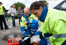 Paramedics are often the first responders on the scene of an accident.