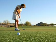 If a golfer completes a 4-par hole in five swings, she scores a bogey.