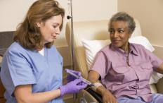 Diabetic patients who are prescribed chemotherapy infusions are monitored closely for any ill effects.