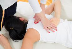 A compression fracture may be treated with physical therapy.