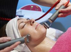 An ultrasonic facial treatment may be performed to create clearer, more youthful looking skin.