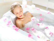 Many bathtubs have non-skid mats attached by suction cups to prevent slipping.