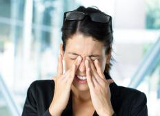People who have difficulty adjusting to changes in light may experience headaches and eye strain.