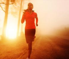 Running can burn 300 calories every half hour.