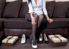 Designer shoes are typically made with the finest leather and fabrics available.