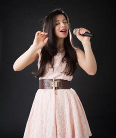 No instruments accompany a singer performing a capella.