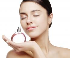 Eau de toilette is a type of perfume spray that is applied to the body to give the wearer a pleasant scent.