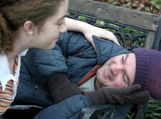 A tout is often associated with the homeless.