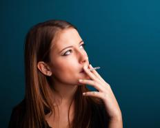 Smoking can cause a person to develop wrinkles around his or her mouth.