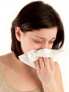 A runny nose is a symptom of hay fever.