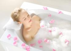 Bathtub stickers may be used to add traction to the bottom of a tub.