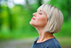 Deep breathing may help reduce stress.