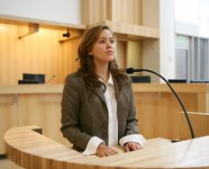 A forensic psychiatrist might be called upon to give expert testimony in court.