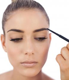 Many people with blonde hair choose a darker eyebrow pencil.