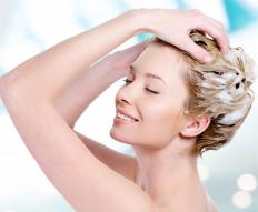 A neutralizing shampoo is typically used during the process of relaxing the hair.