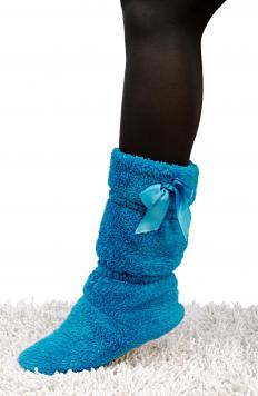 In the colder months, slipper socks can help keep a child's feet protected and warm.
