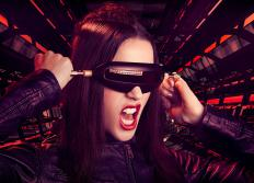 Some head-mounted displays feature video visors.