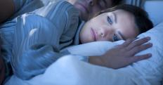 Low progesterone levels may cause insomnia.
