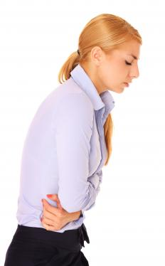 Stress can cause stomach pain.