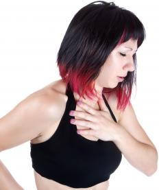 A rattling cough may be caused by chest congestion.