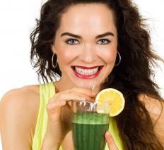 A green smoothie may feature kale or other nutrient-rich green vegetables.