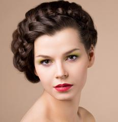 Braided updos can add a touch of elegance to a look.