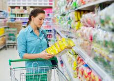 Packaged foods generally include nutrition labels that can help shoppers determine nutrient density.