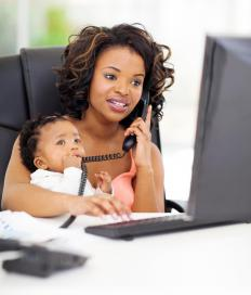Online courses allow parents to take classes at home.