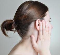 Enlarged adenoids may cause the eardrum to become inflamed.