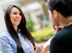 A field interviewer may conduct surveys for an organization.