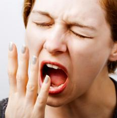 Yawning is a common symptom of anxiety.