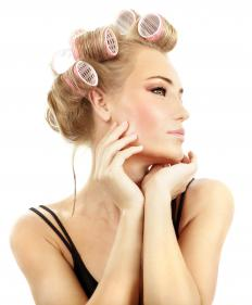 Barrel curls can be made with a curling iron or rollers.