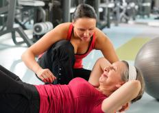 A personal trainer may assist clients with exercises and nutrition.