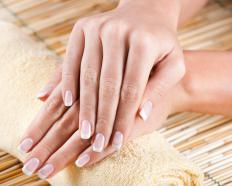 A nail block may be used to smooth the fingernails during a manicure.