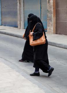 Most niqabs are designed for women.