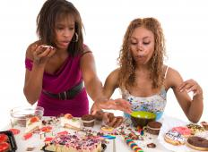 When experiencing stress or depression people may overeat junk food to feel happy.