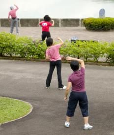 Sport workers may organize different exercise programs for community members.