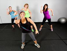 Zumba exercises are all integrated into dance moves.