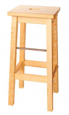A simple, wooden bar stool.