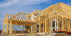 During construction, a home is framed with wood or steel studs.