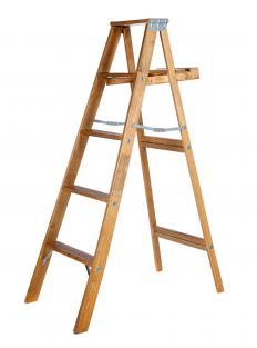 A ladder used for painting.