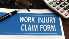 Workers who receive work-related injuries must fill out a work injury claim form to receive reimbursement for lost wages.