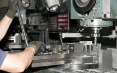 A radial drill press allows for extreme precision in drilling operations.