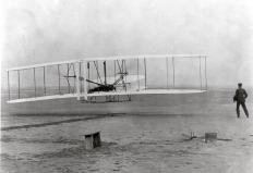 The Wright brothers reportedly used a simple wind tunnel in 1901 to study airflow while developing their aircraft.