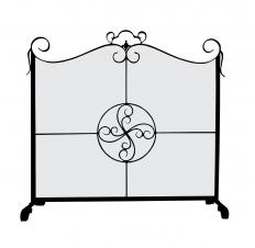 Fire baskets are often among fireplace accessory sets that include fireplace screens.